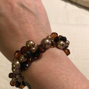 Talbots Autumn colored bangle bracelet with clasp